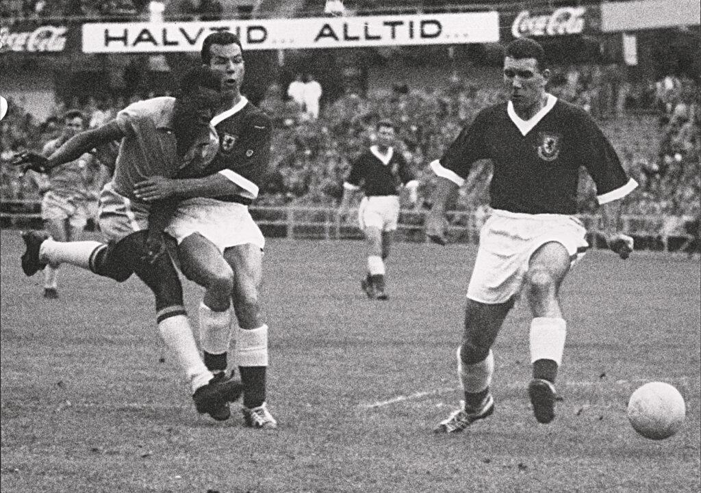 Матч Уэльс - Бразилия 1958 год