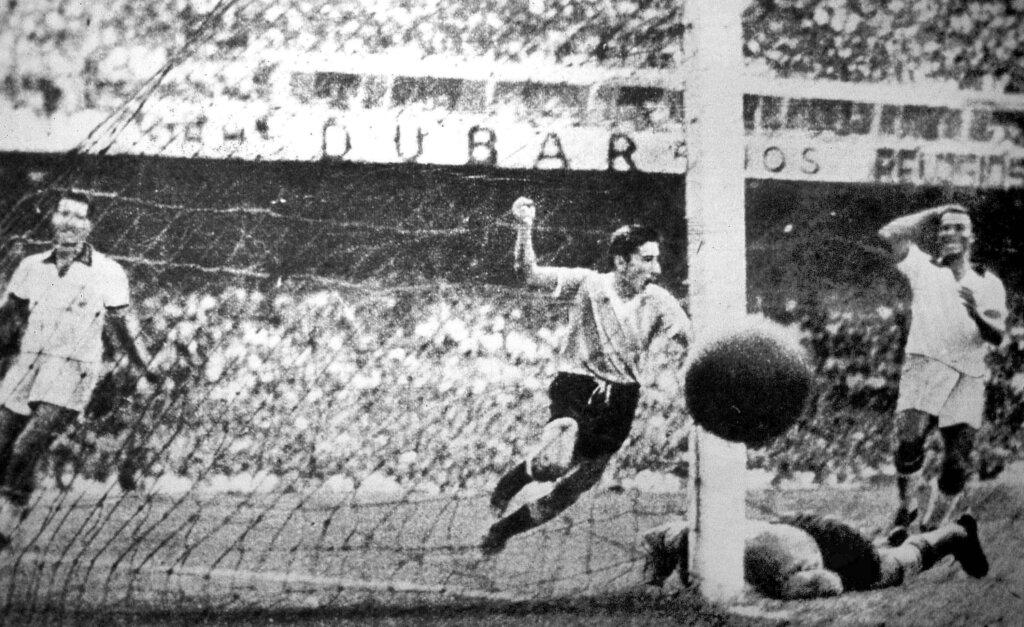 Победый гол Альсидеса Гиджи, Бразилия - Уругвай финал ЧМ-1950