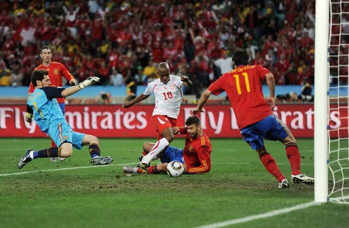 Швейцария - Испания: гол Фернандеса