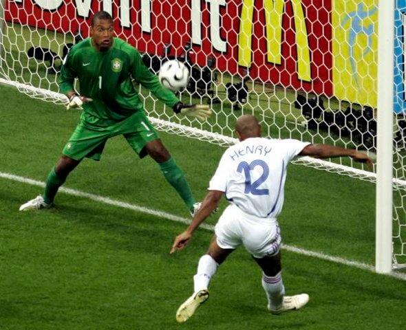 Франция - Бразилия: гол Анри