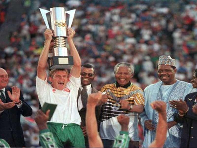 Сборная ЮАР - победитель Кубка Африки-1996