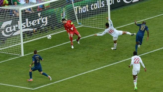 Англия - Франция на Евро-2012