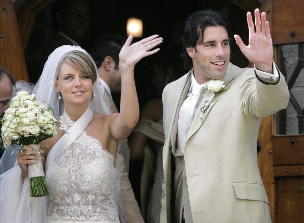 Рууд ван Нистелрой с женой