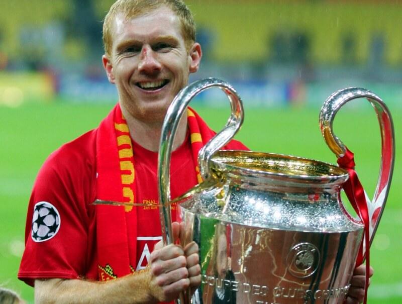 Победитель Лиги чемпионов Пол Скоулз