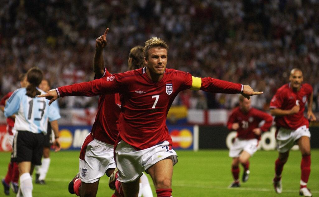 Дэвид Бекхэм: гол Аргентине