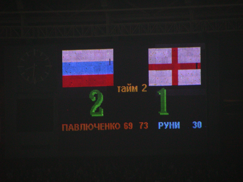 Россия - Англия 2:1