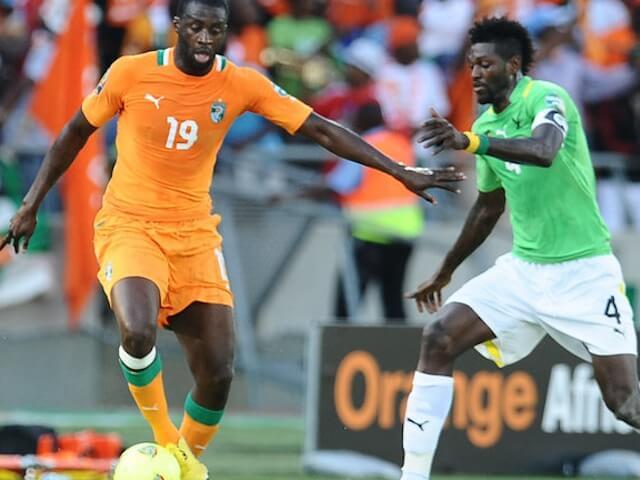 Футболист сборной Кот д'Ивуара Яя Туре