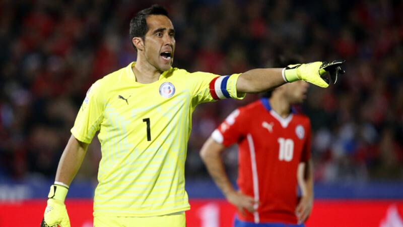 Клаудио Браво с борной Чили