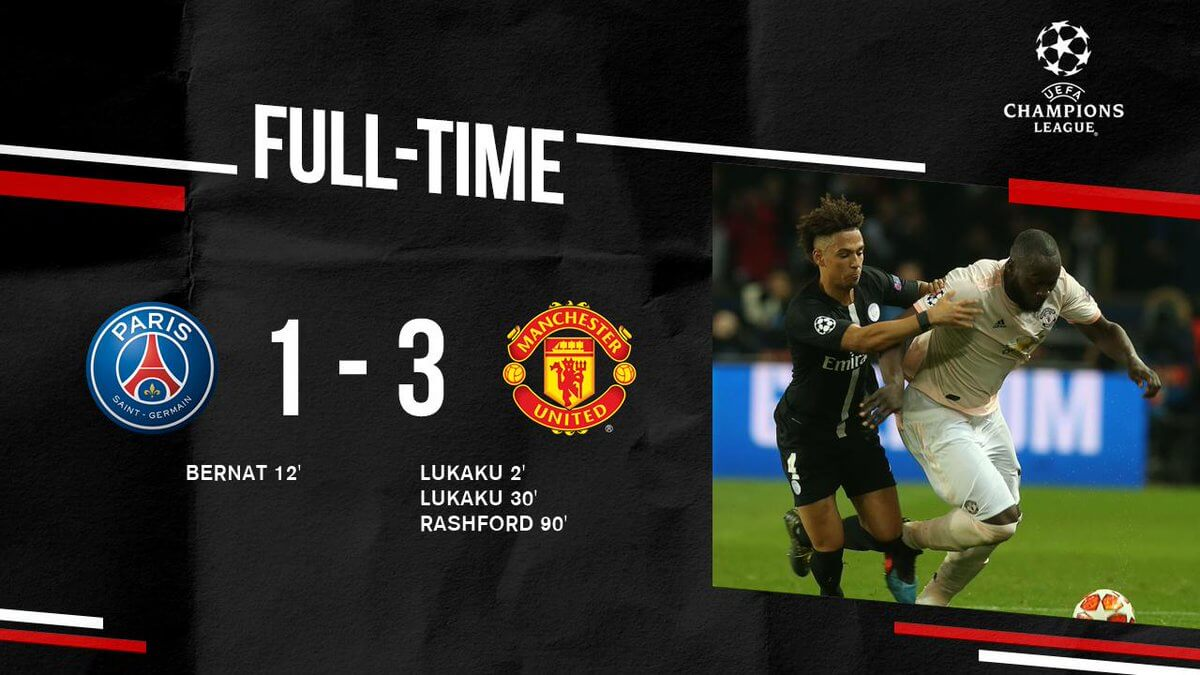 """""""Пари Сен-Жермен"""" - """"Манчестер Юнайтед"""" 1:3"""