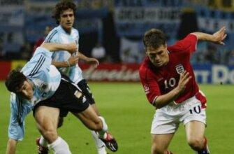 Англия - Аргентина на чемпионате мира 2002 года