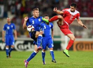 Сборная Мальты - сборная Италии