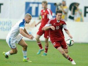 Футболист сборной Белоруссии Александр Глеб