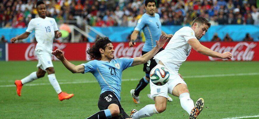 Футбольные противостояния: Англия - Уругвай