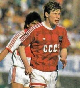 Футболист сборной СССР Олег Лужный