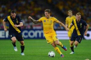 Футболист сборной Украины Андрей Воронин