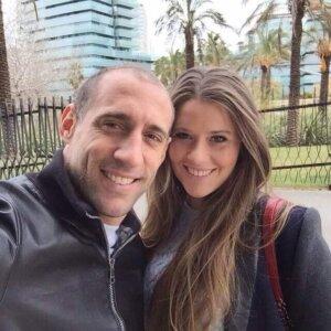 Кристел Кастаньо и Пабло Сабалета