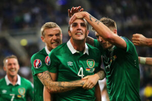 Футболист сборной Ирландии Джон О'Ши