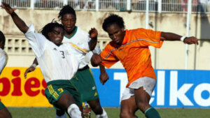 Футболист сборной ЮАР Джейкоб Лекхето