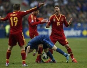Испания - Франция: отборочный матч