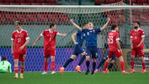 Словакия - Россия 2:1