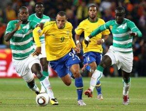 Футболист сборной Бразилии Луис Фабиано