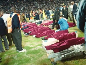 Стадион в Йоханнесбурге: давка