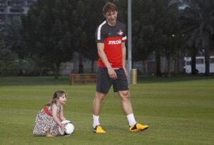 Ким Чельстрём с дочерью